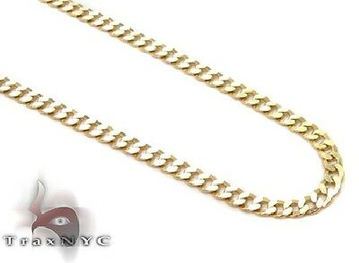 Mens 10k Gold 18inches 2mm Cuban Link Necklace Chain 3.20 grams