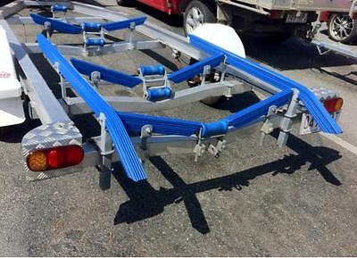 1.5 Meter Ribbed Boat Trailer Plastic Bunks With 45 Degree Angles - Brand New!