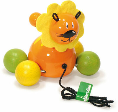 Baby Lion Pull Toy by Vilac | Kids Childrens Toddler Push Pull NEW