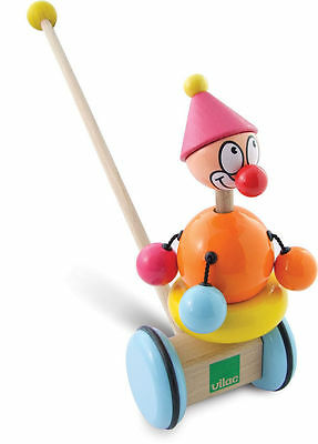 Titoon The Clown Push Toy by Vilac | Kids Childrens Toddler Push Pull NEW