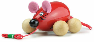 Lisa The Pull Along Mouse Red by Vilac   Kids Childrens Toddler Push Pull