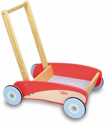 Red Push Pull Trolley by Vilac | Kids Toddler Walker NEW