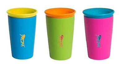 2x WOW Cups for Kids Spill Free Cups 266ml Choice of 3 Colours BPA Free
