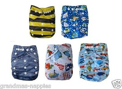 Reusable modern Baby Cloth Nappies Diapers Adjustable bulk newborn nappy