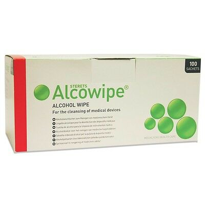 Alocwipes x100 Acohol Wipes,Effective Cleaning,Disinfection of Medical Devices