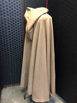 BEIGE SOFT WOOL POLYESTER CLOAK  Lord Of The Rings  Pagan GOTH