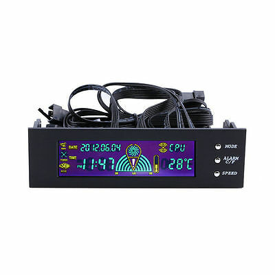 5.25 inch PC Fan Speed Controller Temperature Display LCD Front Panel DE