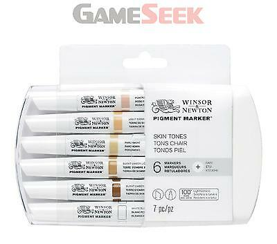 Winsor And Newton Pigment Marker 6 Set Skin Tones - Toys Brand New Free Delivery