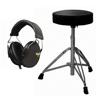 Cannon Percussion UP197 Padded Drum Throne + Cad Drummer Isolation Headphones