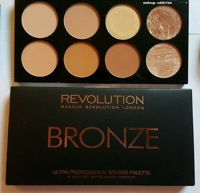 Makeup Revolution Blush & Contour palette Bronze  bronzer highlighting powder
