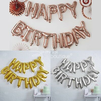 Happy Birthday Balloon Bunting -GIANT/XL Party Hanging Decoration/Garland/Banner
