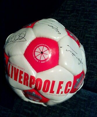 Liverpool football club reproduced signed football season 1999/2000