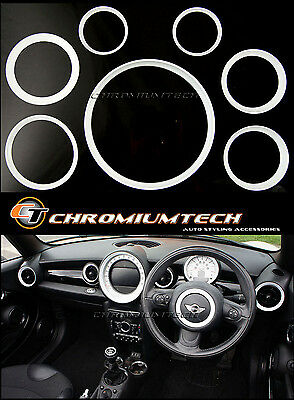 MINI Cooper/S/One R55 R56 R57 R58 Coupe R59 Roadster Weiß Innenraum Ring Set neu