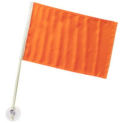 12 Inch x 18 Inch Suction Cup Mount Orange Ski Warning Flag for Boats