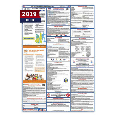 2018 Ohio State & Federal Labor Law Poster - LAMINATED