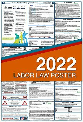 2019 Louisiana State and Federal Labor Law Poster LAMINATED