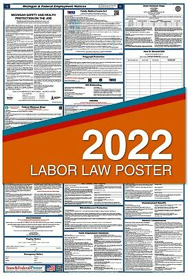 2018 Michigan State & Federal Labor Law Poster - LAMINATED