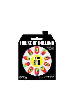 House of Holland faux ongles - Tie Dye pour hippie Triple ongles (24 ongles)