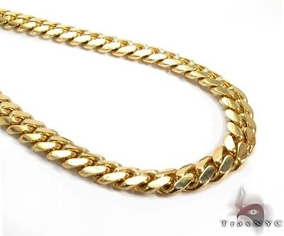 Miami Cuban Chain Link 18k Yellow Gold 1036.85 Grams 42 Inches 12.5mm