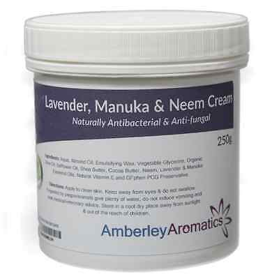 Lavender Manuka & Neem Cream 250g - Excellent for Eczema, Psoriasis, Itchy Skin