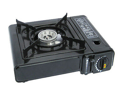 New Portable Gas Cooker Stove Camping Bbq Party Burner Outdoor With Carry Case