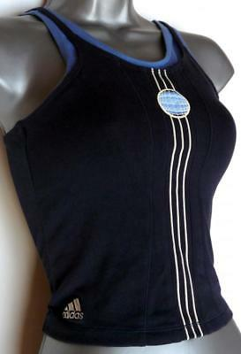 "New Girls Adidas 3 Stripe Tank Top, Vest, Sleeveless Top 28""/30"""