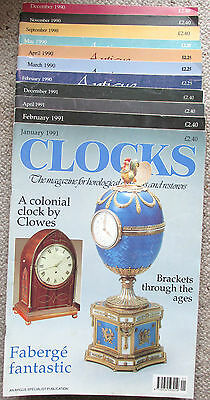11 Various Clocks Magazines  1990 & 1991