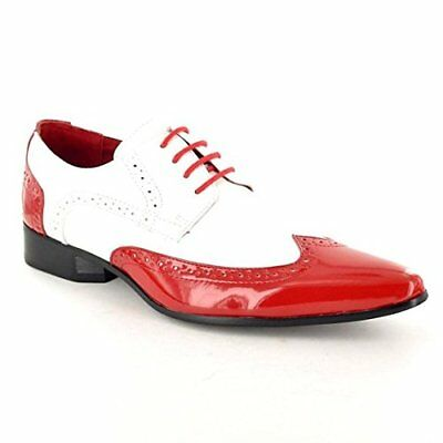 Mens New Rossellini Leather Lined Patent Party Formal Dress Wedding Shoes  6 -12