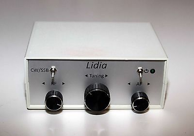 "Simple Direct Conversion Receiver CW/SSB ""Lidia-80"" (80 mtrs), w/case.FULL KIT."