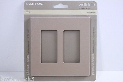 Genuine Lutron Satin SC-2-MS (Mocha Stone) 2 Gang Wallplate FREE USA SHIPPING