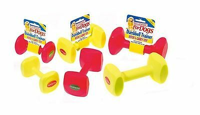 Dumbbell Trainer Fetch & Carry Robust Dog Toy Various Colours Floating Toy