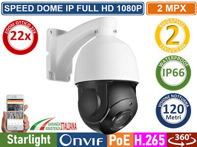 Telecamera Hd-Ip Speed Dome Camera Ptz 2 Mp 1080P Sony Starvis 22X Ip66  P2P