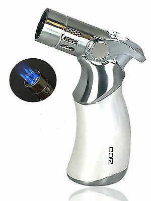 "4.5"" ZICO Premium Quality Quadruple Refillable Torch Lighter Easy Soft Ignition"