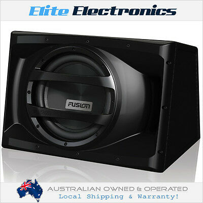 """Fusion En-Aw1122 12"""" 1000W Active Powered Built-In Amp Subwoofer Car Sub Box"""