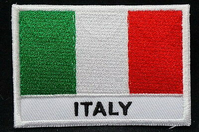 "ITALY FLAG EMBLEM PATCH SEW ON EASY TO USE 2""x3"""