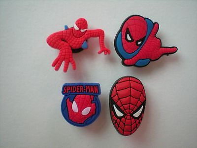 Jibbitz Shoe Charm Plug Buttons Fit Croc WristBands Bracelet Belts 4 SPIDERMAN