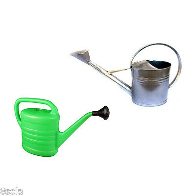 2.5/5/8/10/12L High Quality Watering Can Plastic Galvanised Metal Garden Plant