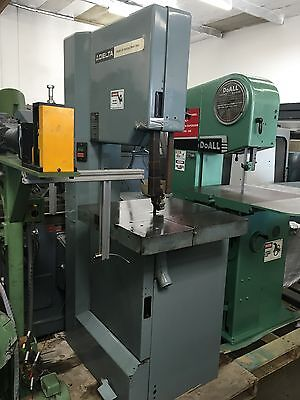 "DELTA VERTICAL BANDSAW 20 24"" x 24"" TABLE  High Speed Aluminum Wood Brass"