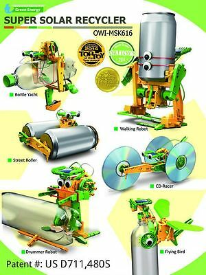 OWI Green Energy Super Solar Recycler Science Kit w/7 Activities OWIMSK616