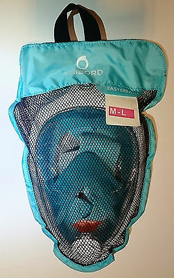 THE ORIGINAL Tribord Easybreath mask, color Turquoise, size M/L, latest batch!