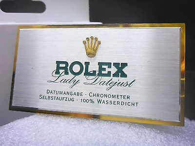 NEU ROLEX Lady Datejust VINTAGE Aufsteller ORIGINAL Logo Emblem EXLUSIV Display