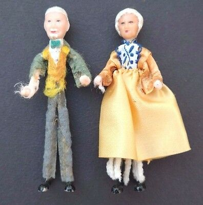 Vtg 1950's  Antique WIRE Baroque / Renaissance German IMPORT Husband & Wife Doll