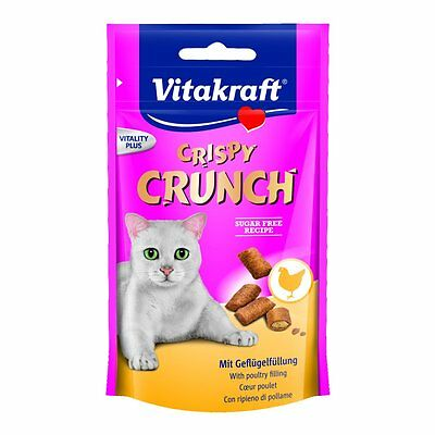 Vitakraft Snack pour chats Crispy Crunch avec Volaille 8 x 60g Friandise