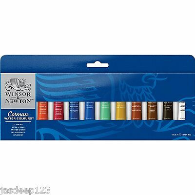 Winsor Newton Watercolour 12 x 8ml Tube Set Artist Art Paints Students Cotman