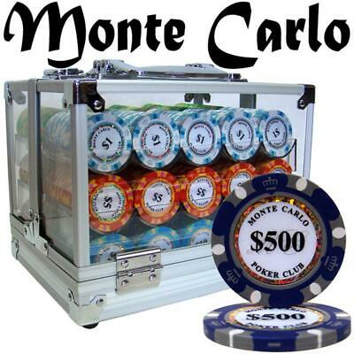 Custom - 600 Ct Monte Carlo Chip Set Acrylic Case