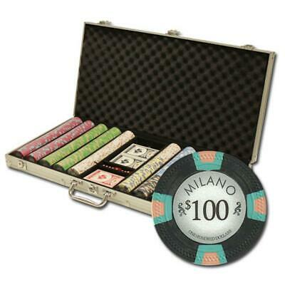 "Poker Supplies 750Ct Custom Claysmith Gaming ""Milano"" Chip Set in Aluminum"
