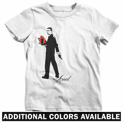 Armed Kids T-shirt - Baby Toddler Youth - Serge Gainsbourg Pistol Roses Music FR
