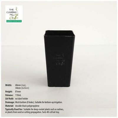 40mm Plastic Propagation tube pot. Ideal for seed, seedling, cutting propagation