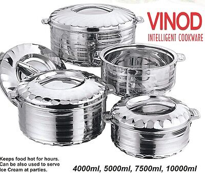 Stainless Steel Hot Cold Food Insulated Casserole Double Wall Hot Pot Jumbo Size