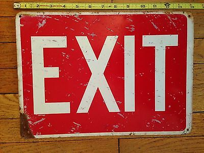 "Vintage Industrial Reclaimed Factory Advertising ""EXIT""  Sign"